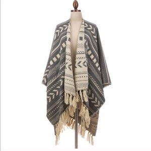 Boho Tribal Print Poncho